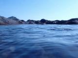 陸からだと青い海…